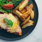 Chicken Parmigiana and Chips