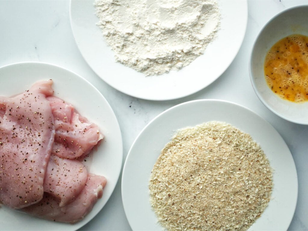 Chicken crumbing set up