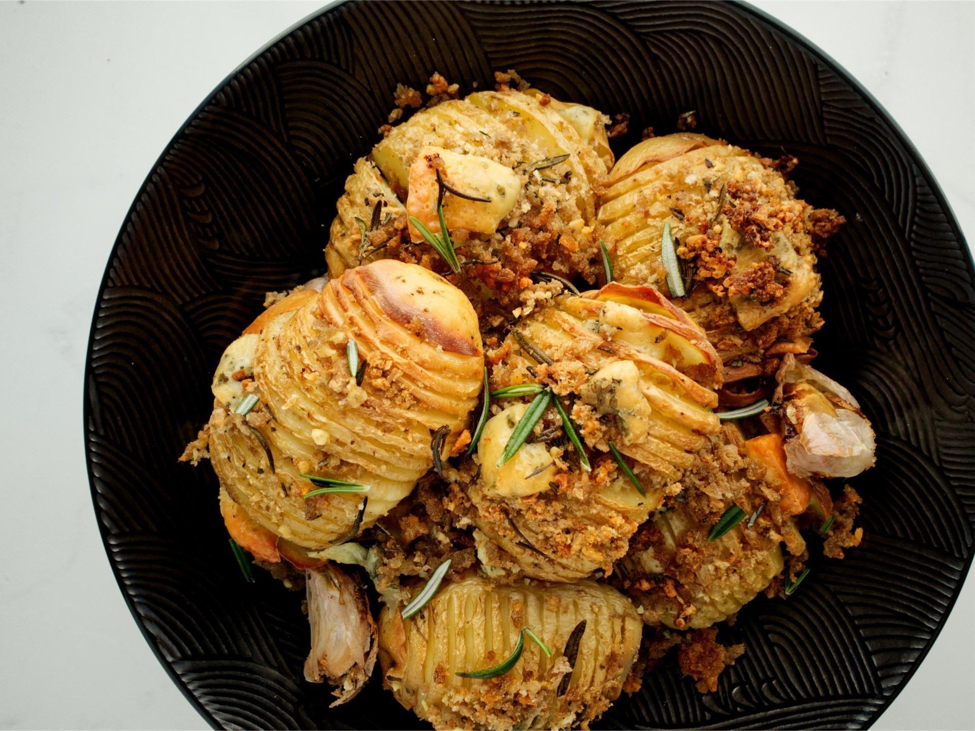 Duck Fat Hasselback Potatoes
