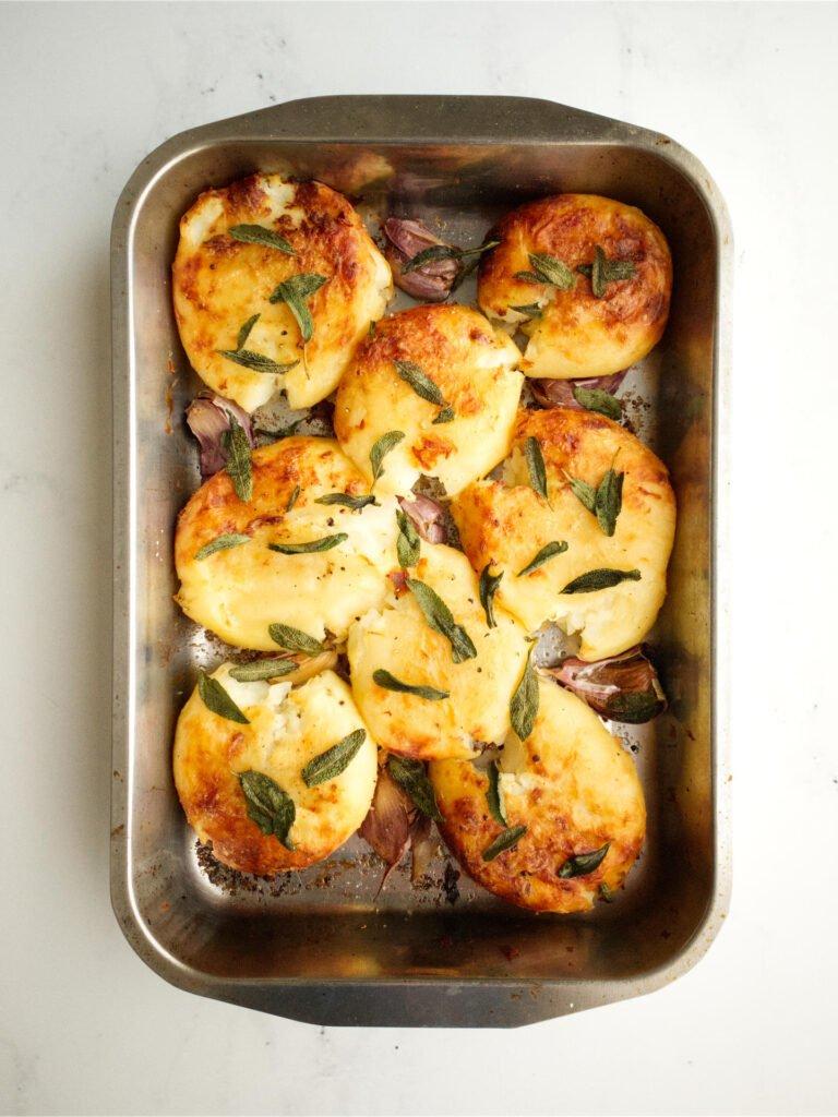Roast Potatoes with Sage and Garlic