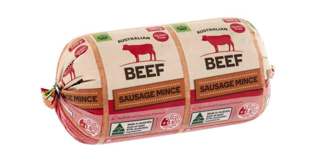Beef sausage mince